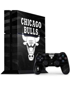 Chicago Bulls Black Animal Print PS4 Console and Controller Bundle Skin