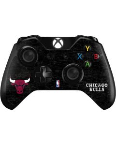 Chicago Bulls Black Distressed Xbox One Controller Skin
