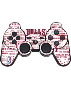 Chicago Bulls Historic Blast PS3 Dual Shock wireless controller Skin