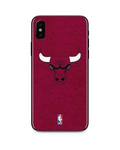 Chicago Bulls Red Distressed iPhone XS Skin