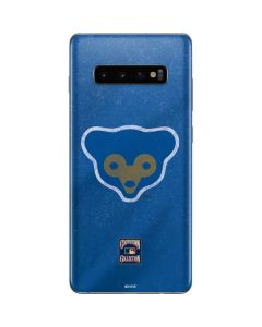 Chicago Cubs - Cooperstown Distressed Galaxy S10 Plus Skin