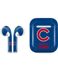 Chicago Cubs - Solid Distressed Apple AirPods Skin