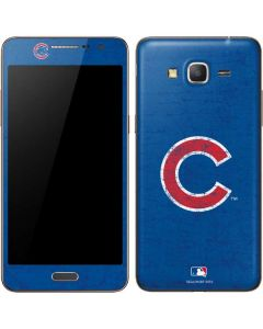 Chicago Cubs - Solid Distressed Galaxy Grand Prime Skin