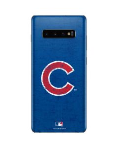 Chicago Cubs - Solid Distressed Galaxy S10 Plus Skin