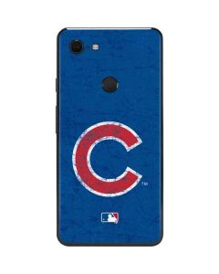 Chicago Cubs - Solid Distressed Google Pixel 3 XL Skin