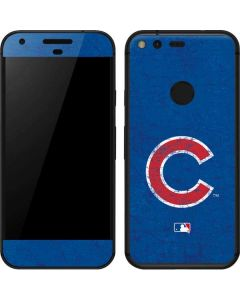Chicago Cubs - Solid Distressed Google Pixel Skin