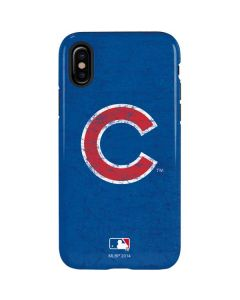 Chicago Cubs - Solid Distressed iPhone X Pro Case