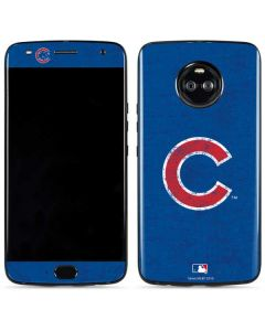 Chicago Cubs - Solid Distressed Moto X4 Skin