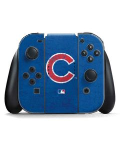 Chicago Cubs - Solid Distressed Nintendo Switch Joy Con Controller Skin