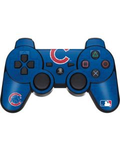 Chicago Cubs - Solid Distressed PS3 Dual Shock wireless controller Skin