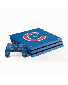 Chicago Cubs - Solid Distressed PS4 Pro Bundle Skin