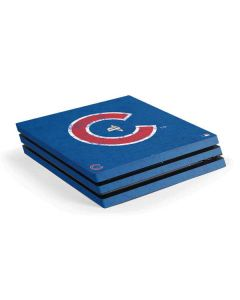 Chicago Cubs - Solid Distressed PS4 Pro Console Skin