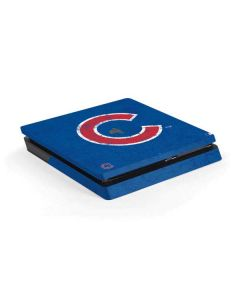 Chicago Cubs - Solid Distressed PS4 Slim Skin