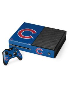 Chicago Cubs - Solid Distressed Xbox One Console and Controller Bundle Skin
