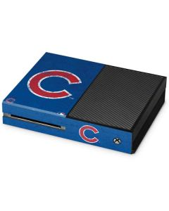 Chicago Cubs - Solid Distressed Xbox One Console Skin