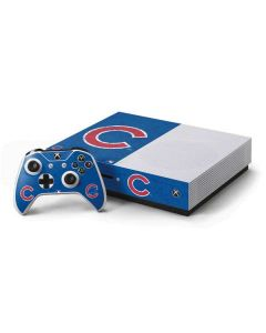 Chicago Cubs - Solid Distressed Xbox One S Console and Controller Bundle Skin