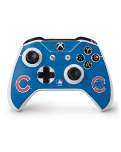 Chicago Cubs - Solid Distressed Xbox One S Controller Skin
