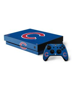 Chicago Cubs - Solid Distressed Xbox One X Bundle Skin