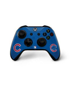Chicago Cubs - Solid Distressed Xbox One X Controller Skin