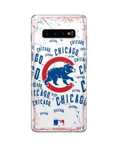 Chicago Cubs - White Cap Logo Blast Galaxy S10 Plus Skin