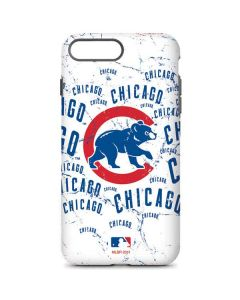 Chicago Cubs - White Cap Logo Blast iPhone 7 Plus Pro Case