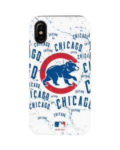 Chicago Cubs - White Cap Logo Blast iPhone XS Max Pro Case