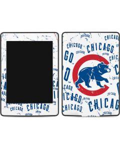Chicago Cubs - White Cap Logo Blast Amazon Kindle Skin