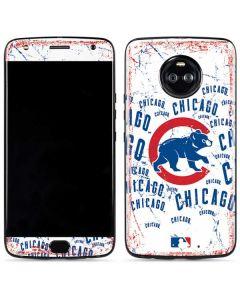 Chicago Cubs - White Cap Logo Blast Moto X4 Skin