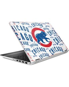 Chicago Cubs - White Cap Logo Blast HP Pavilion Skin