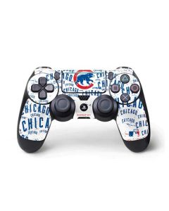 Chicago Cubs - White Cap Logo Blast PS4 Pro/Slim Controller Skin
