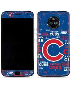 Chicago Cubs -Cap Logo Blast Moto X4 Skin