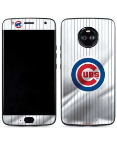 Chicago Cubs Home Jersey Moto X4 Skin