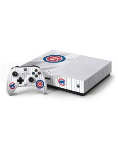 Chicago Cubs Home Jersey Xbox One S Console and Controller Bundle Skin