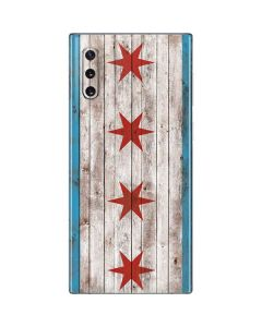 Chicago Flag Dark Wood Galaxy Note 10 Skin
