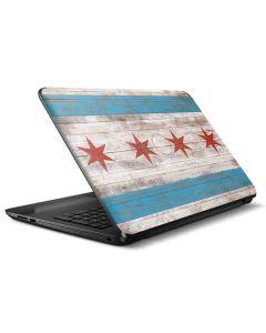Chicago Flag Dark Wood HP Notebook Skin