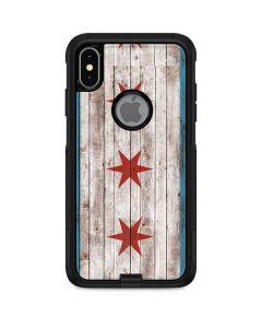 Chicago Flag Dark Wood Otterbox Commuter iPhone Skin