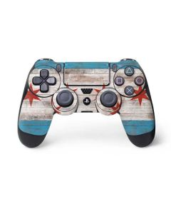 Chicago Flag Dark Wood PS4 Pro/Slim Controller Skin