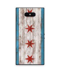 Chicago Flag Dark Wood Razer Phone 2 Skin