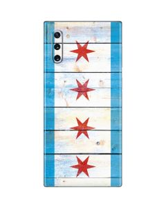 Chicago Flag Light Wood Galaxy Note 10 Skin
