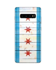 Chicago Flag Light Wood Galaxy S10 Plus Skin