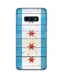 Chicago Flag Light Wood Galaxy S10e Skin