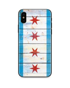 Chicago Flag Light Wood iPhone XS Skin