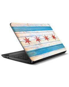 Chicago Flag Light Wood HP Notebook Skin