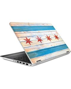 Chicago Flag Light Wood HP Pavilion Skin