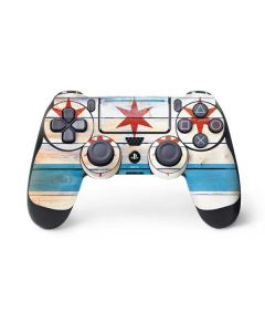 Chicago Flag Light Wood PS4 Pro/Slim Controller Skin