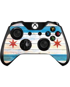 Chicago Flag Light Wood Xbox One Controller Skin