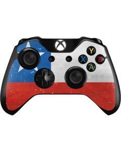 Chile Flag Distressed Xbox One Controller Skin