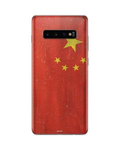 Chinese Flag Distressed Galaxy S10 Plus Skin