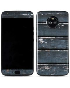 Chipped Blue Wood Moto X4 Skin