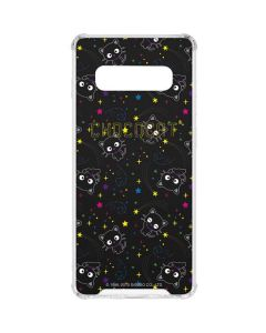 Chococat Black Repeat Pattern Galaxy S10 Clear Case